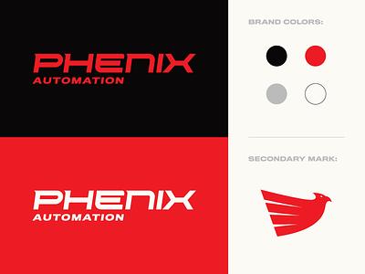 Phenix Automation industrial concept logomark logotype identity branding logo