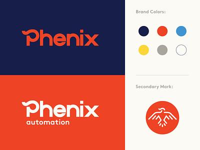 Phenix Rebrand industrial logo logomark logotype identity concept branding