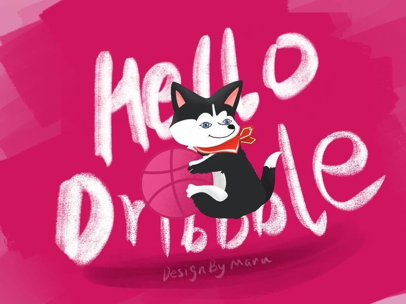 Hello Dribbble 设计 插图