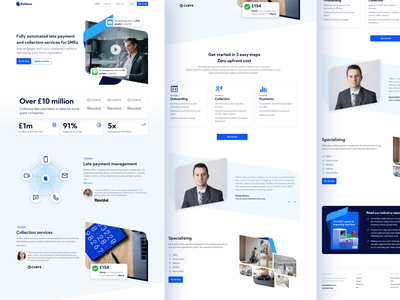 Kolleno website fintech blue websites