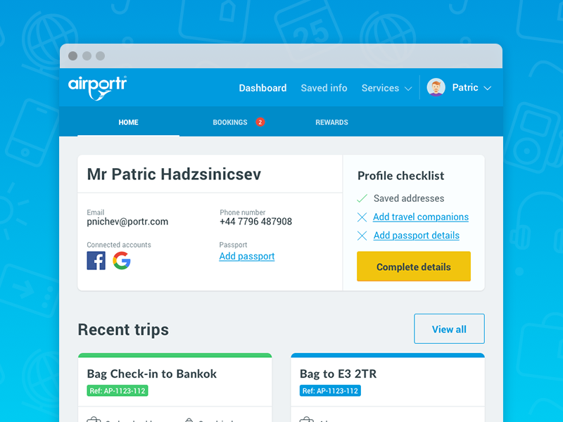 My Account airportr account