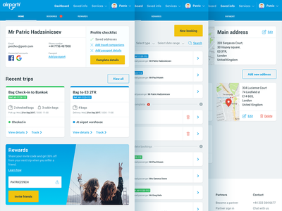 Bookings dashboard manage bookings airportr