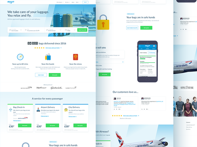 Home Page 4.0 responsive blue airportr landing splash home page