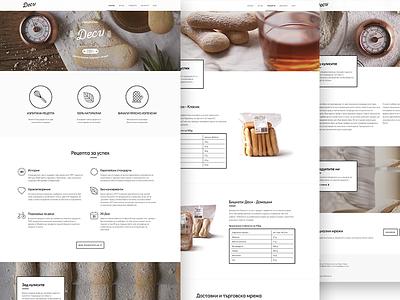 Desi Website white black responsive website desi biscotti