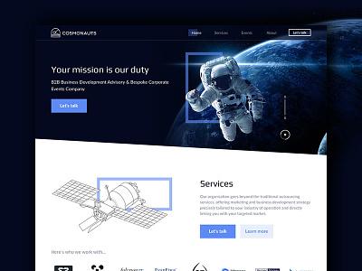 Cosmonauts cosmonauts homepage website blue