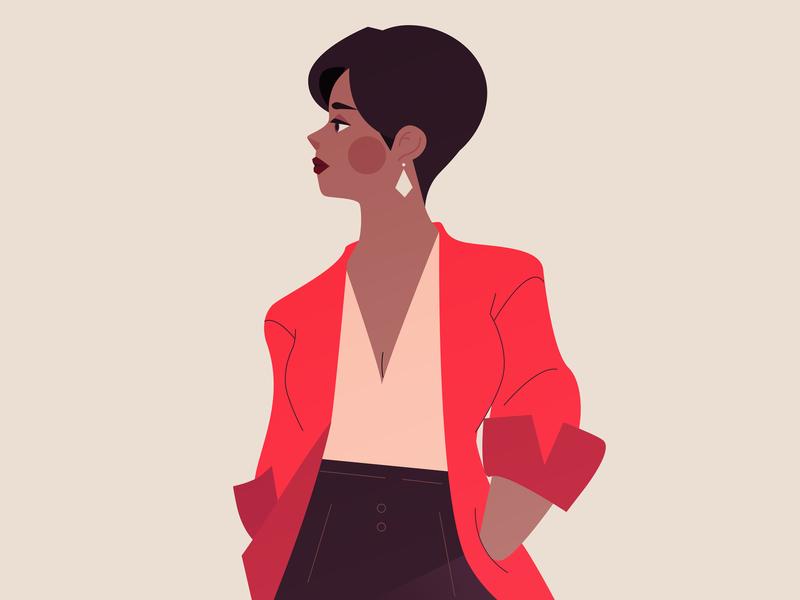 Serenity Illustration Series motion design animation ui female digital classy vector style frame minimalist illustrator editorial illustration design