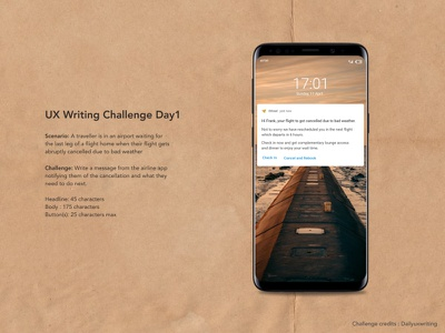 Daily UX Writing Challenge Day1 dailychallenge day1 challenge mobile notifications design content uxwriting uxdesign ux