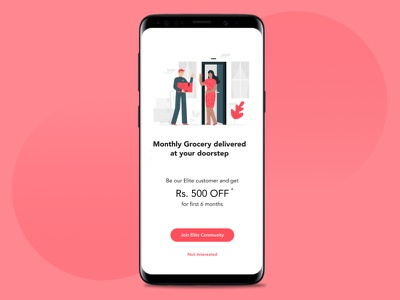 App promotion ux ui delivery grocery add apppromotion uxwriting uidesign uxdesign