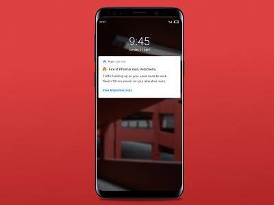 Notification on Alert dailychallenge red mobile notification microcopy uxwriting uidesign ux design uxui ui ux