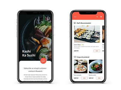Sushi restaurant mobile app foodmenu menu listings homepage sushiapp sushirestaurant appdesign sushi mobileapp designdaily uidesigner uxdesigner uidesign uxdesign ui ux