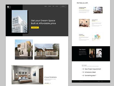 Homepage - Architecture website showcase gallery minimal black grey yellow landing homepage architecture architect building website ui ux