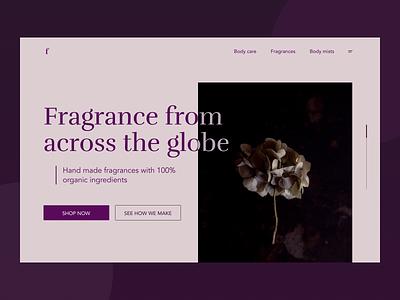Fragrance website - homepage website design website shop fragrance elegant ecommerce homepage dailychallenge uxdesign ux uidesign ui designs design