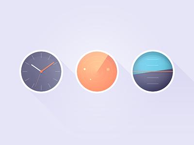Practice work icon tools color watch radar compass shadow circle sync orange