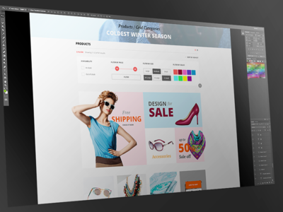eCommerce product filter  feature list product filter theme wordpress magento ecommerce