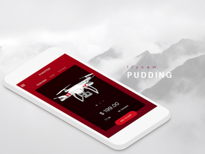 f l y i n g sketch ui drone price cart shop product android mobile ios pudding