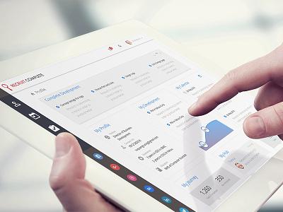 Mobile Application portal ipad app recruit tablet