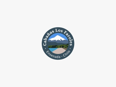 Lodge next to the volcano - Logo volcano mountain south tourism touristic logo branding brand logotipo logotipe logo