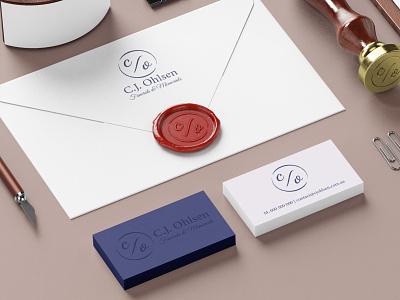 C.J. Ohlsen Funerals & Memorials flat love love ones cementery logotype branding brand logo funerals and memorials memorials funerals