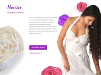 Brides section / fashion designer landing page