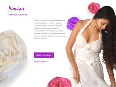 Brides section / fashion designer landing page clothing website fashion design fashion web website section website landing page wedding wife bride brides
