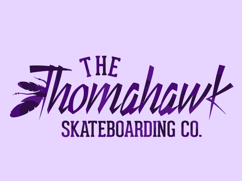 Tomahawk Skateboarding purple branding brandid adobe illustrator cc illustrator logo