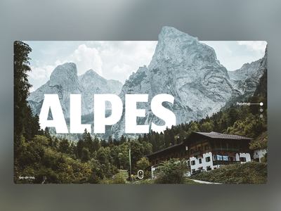 Alpes interface travel nature launch website ux design ux  ui ux identity design illustration