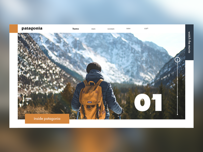 Patagonia interface white type flat web flat  design typography adobe branding icon ui ux identity illustrator design