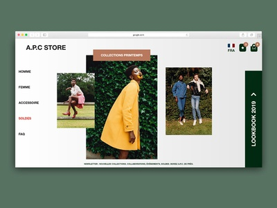 A.P.C Store Interface icon animation app website typography interface web ui white ux flat  design branding flat vector logo identity illustrator illustration design adobe