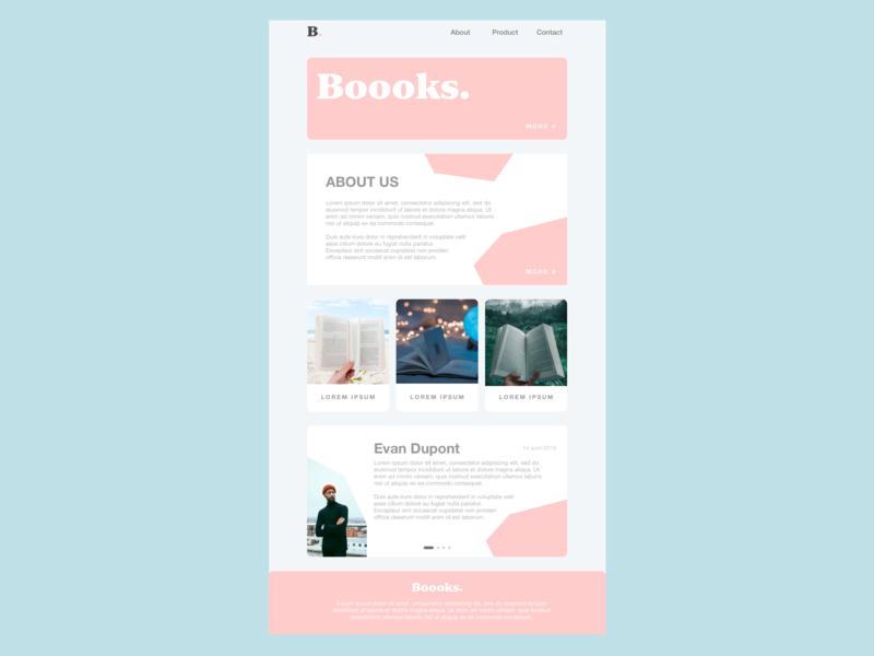 [UI Design] Landing Page - Boooks. desktop design landingpage dailyui ux uiux sketchapp design ui uidesign