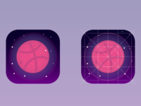 [Icon Design] Dribbble icon