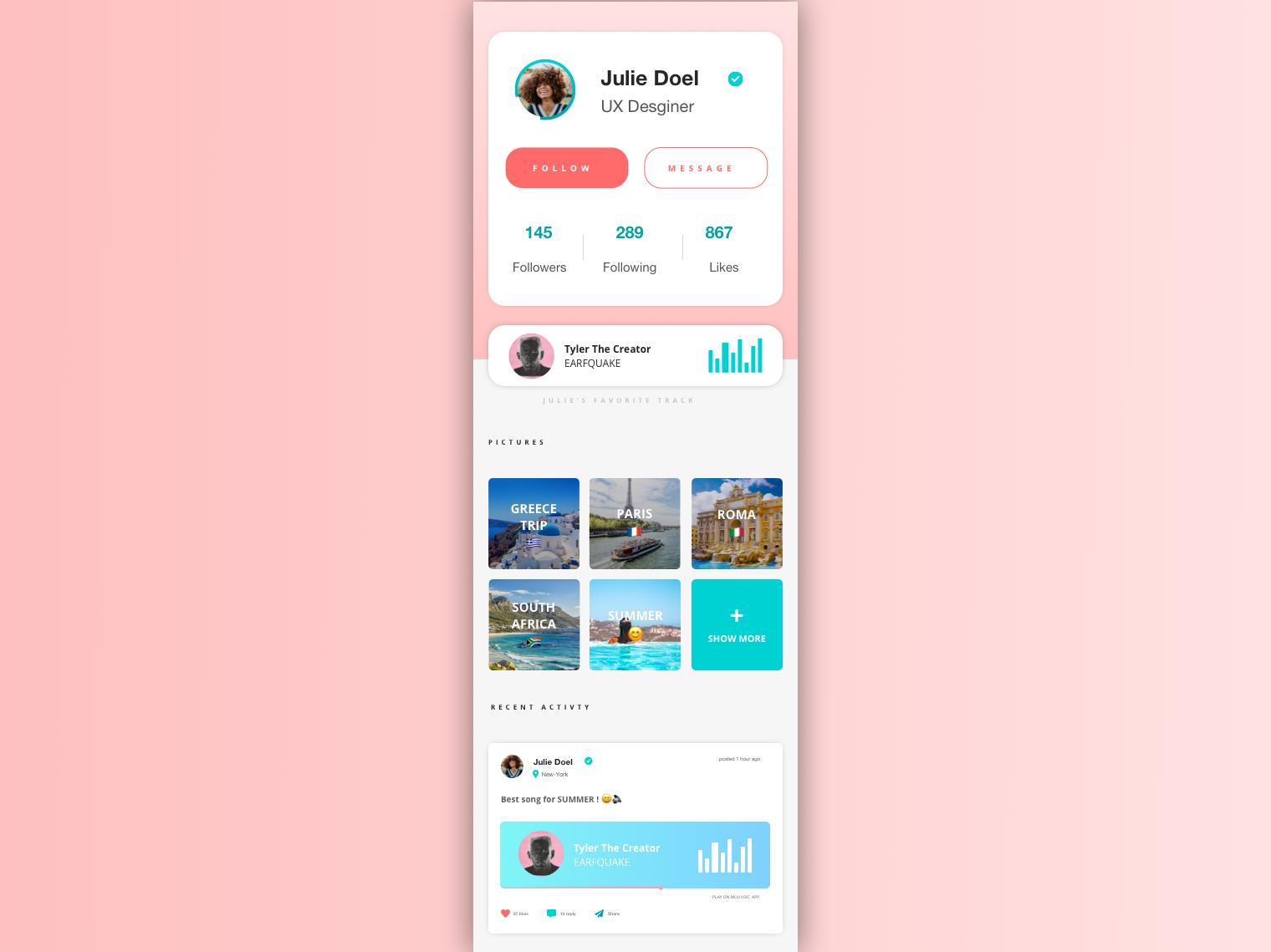 [UI Design] User Profil type logo illustrator website flat  design ux flat web vector ui identity design uidaily app design app webdesign uxdesign uidesign uiux sketch