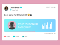 [UI Design] Social Music Post