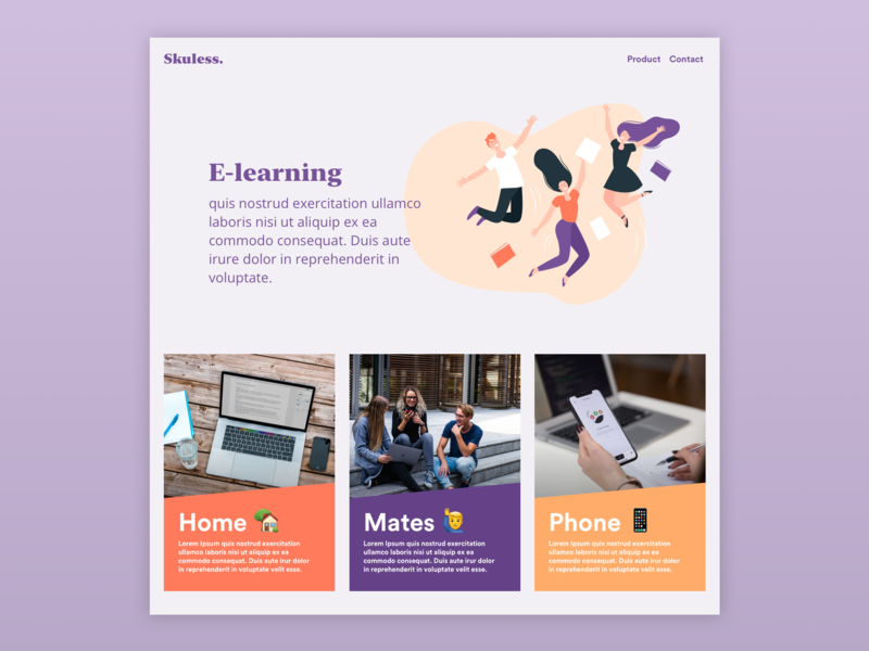 [UI Design] Home Page - E-Learning interface minimal website app design flat  design web typography ux design ux ui identity flat branding ui design sketchapp uidesign uiux