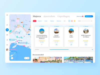 Travel platform map go places travel platform product design vaniladesign inspiration clean ui app web design minimal design app design ux ui