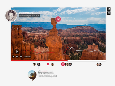 Video Player UI liking like video comments ui video player video