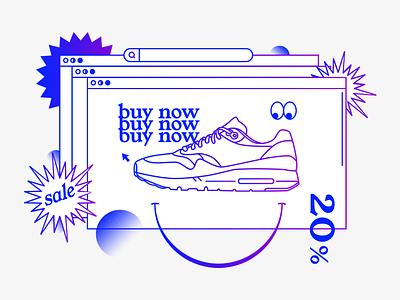 Buy Now wish list e commerce online store sale vector illustration