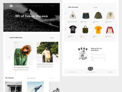 Deus Ex Machina brand blog ui web design deus ex machina motorbike bike surf online store ecommerce landing deus