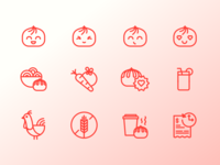 Wow Bao Icon Set