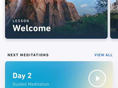 Meditation App gradients ux ui clean ios app meditation