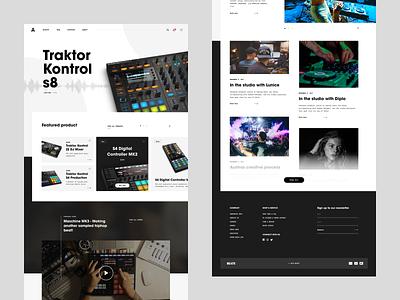 BEATS store design website concept ecommence webshop music production dj music landing page ui landing page ui beats