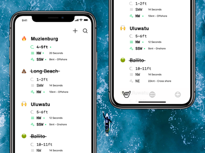 🤙 icon iconography app concept emoji minimalist minimal app clean ui surf report ios app surfing surf
