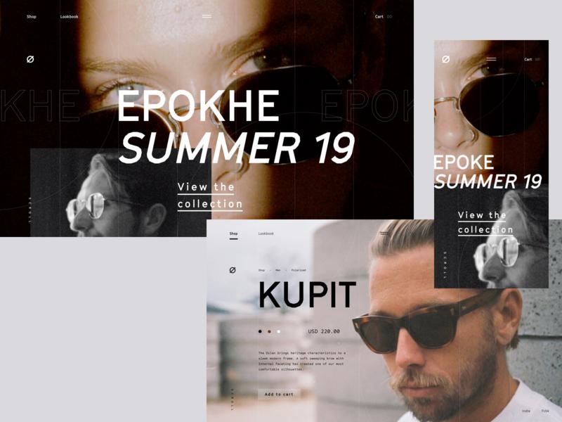 Ephoke.co branding online store typograpghy mobile ecommerce landing page sunglasses sunglass uidesign website ui
