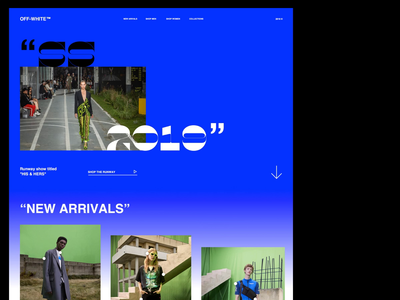OFF-WHITE modern clean layout web branding ecommerce landing ui store fashion off-white
