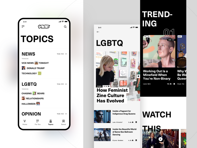 Vice Topics topics new visual design viceland app vice typography website ui