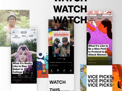 VICE Case Study android app ios motion typography viceland vice app clean ui design