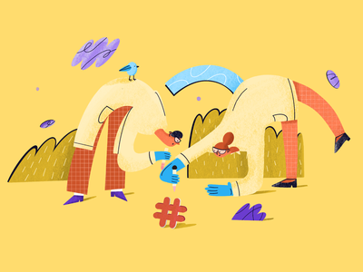 researchers procreate illustration design