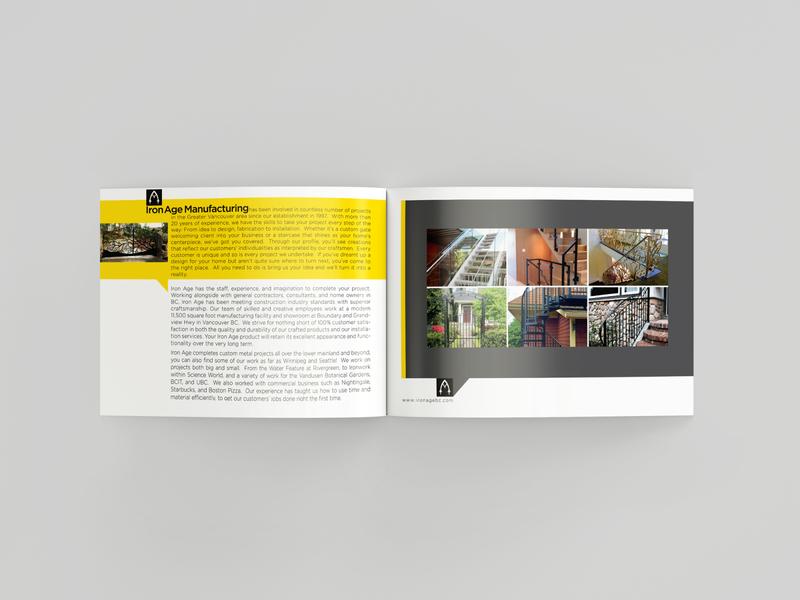 ironage brochure design