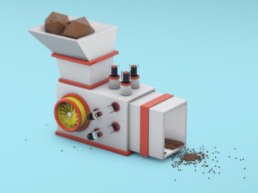 Extractor Machine studying shot motion design abstract design mini machine begins 3d illustration c4d
