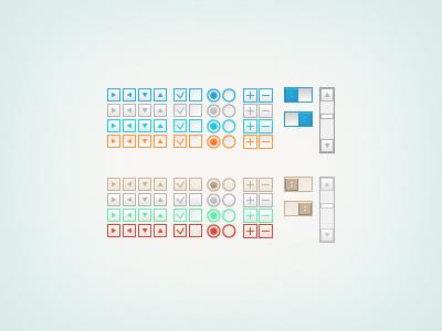 Controls variations inteface icon controls