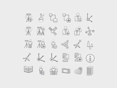 Icon Set icon illustration work